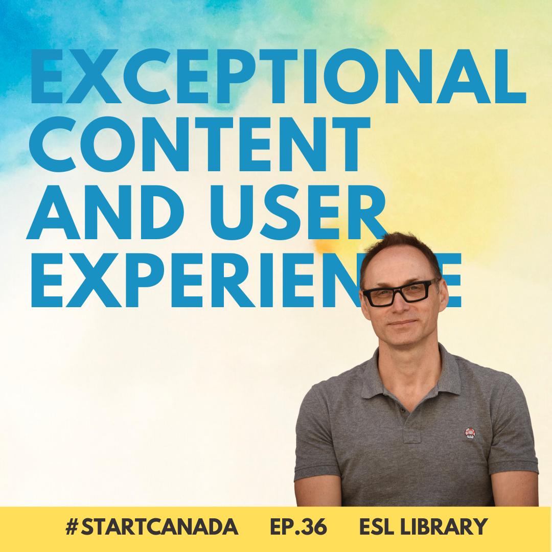 EP36 ESL Library - Start Canada Podcast Season 3 Episode Art