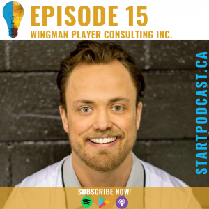 Carson Shields of wingman player consulting on Start Podcast