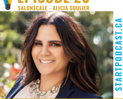 Alicia Soulier SalonScale founder on Start Podcast