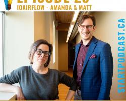 Amanda and Matt Founders of ioAirFlow on Start Podcast